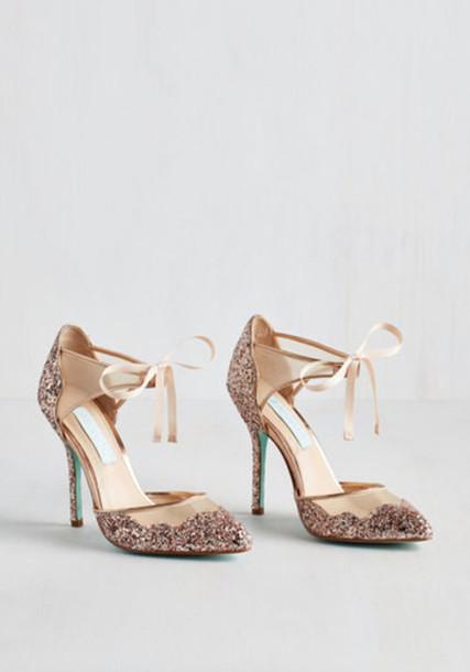 heel blush gold shoes