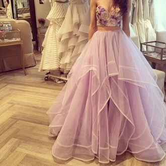dress prom prom dress purple prom dress prom skirt flowers purple flowers crop tops purple dress purple skirt flower croptop long prom dress prom gown gown princess dress purple cute dress cute beautiful fashion