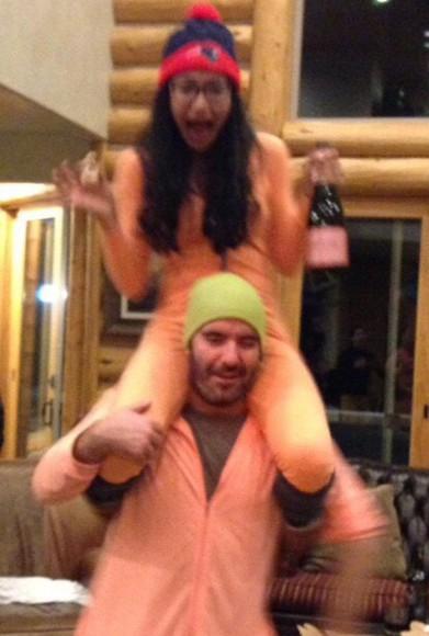 naya rivera jumpsuit onesie onsies orange tight fit