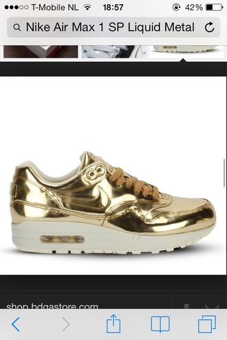shoes gold metal nike liquid air max nike air max 1 beyonce nike air