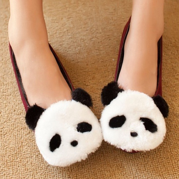 shoes cute panda flat sandals women style