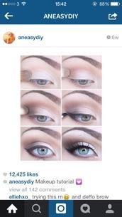 make-up,eyebrows,eyebrows on fleek,brown,eye shadow,eyes,eye makeup