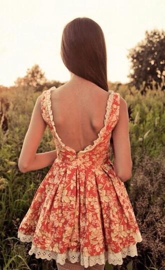dress floral fashion short dress floral dress elegant dress classy dress summer dress backless dress