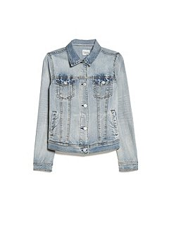 Mango Light denim jacket Pastel Blue - House of Fraser