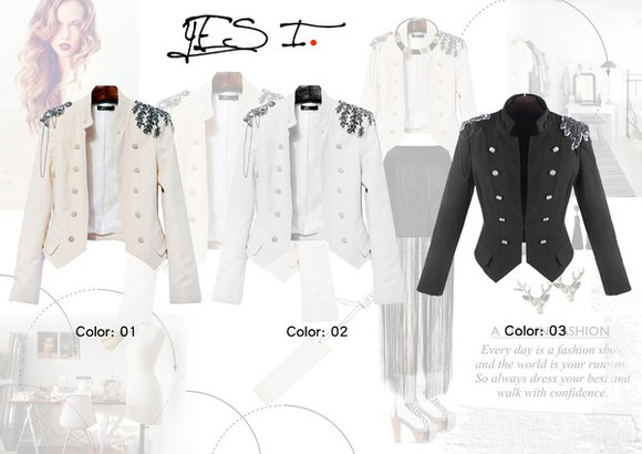 blazer white jacket embellished jacket
