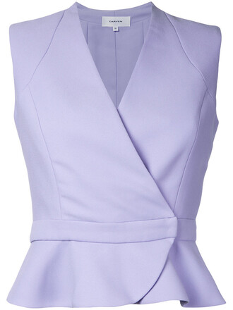 shirt sleeveless shirt sleeveless women purple pink top