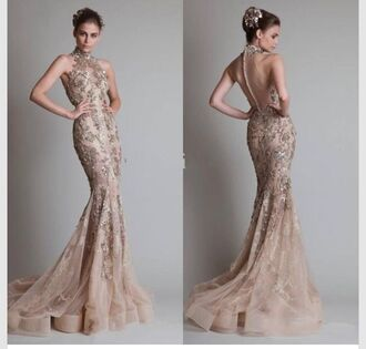 dress formal high neck mermaid prom sheer nude applique prom dress high neck. prom dress prom gown