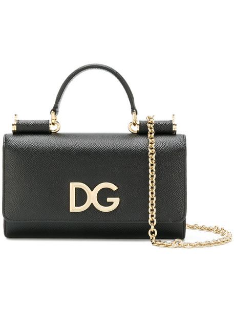 Dolce & Gabbana mini women bag crossbody bag leather black