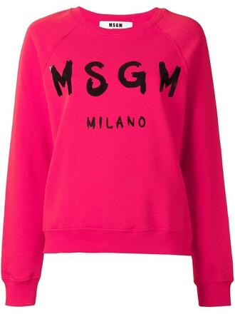 sweatshirt print purple pink sweater