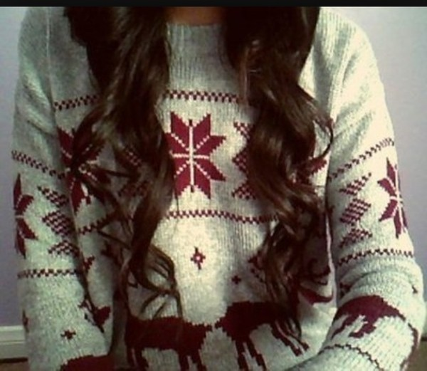 sweater christmas clothes jacket oversized sweater jumper sweatshirt winter outfits cute green sweater white pullover cute red winter sweater vintage style winter sweater christmas sweater pull black beautiful wonderful bells white curly hair girl holidays moose shirt jumper deer snowflake cardigan sweater weather norway pattern chilly cozy warm beige xmas chirstmas holidays ugly christmas sweater red sweater tumblr christmas sweater