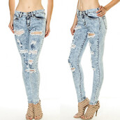 jeans,rip it up jeans,rip,ripped,denim,cut,makeup table,vanity row,dress to kill,skinny,skinnies,acid wash