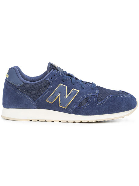 New Balance women sneakers leather blue suede shoes