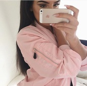 jacket,light pink,vue boutique,blush bomber,pink jacket,bomber jacket,baby pink,pink dress,pink perfect jacket pretty,pink,bomber-jacket,rose,baseball jacket,mauve pink bomber jacket,pink bomber