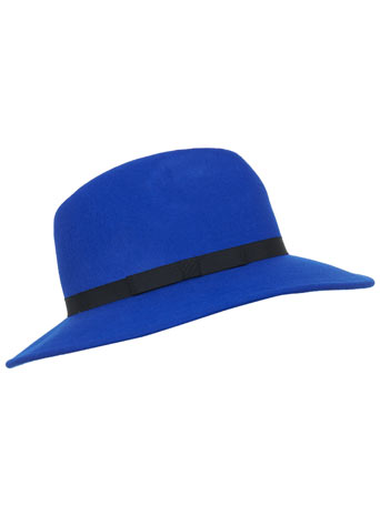 Cobalt Fedora - View All - Sale & Offers - Miss Selfridge