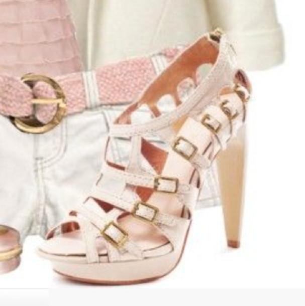 5e89f71e72e shoes heels high heels platform shoes buckles buckled soft pink blush pink  bag