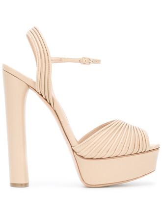 open women sandals platform sandals leather nude shoes