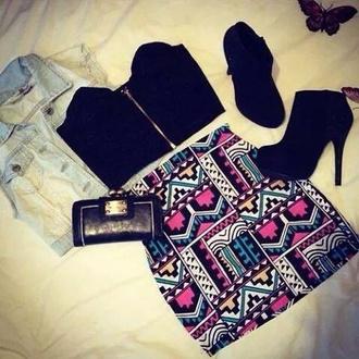 skirt vest bodycon skirt atzeco