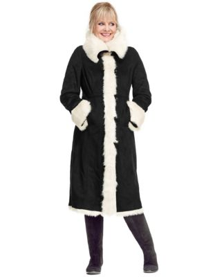 Twiggy for m&s collection faux shearling coat