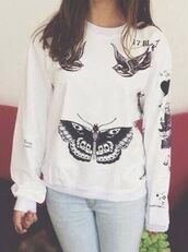 sweater,one direction,harry styles tattoo,white sweater
