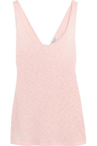 back cotton pastel pink pastel pink top