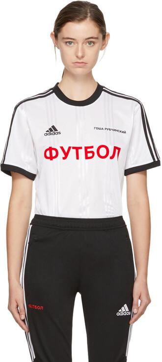 t-shirt shirt adidas originals white top
