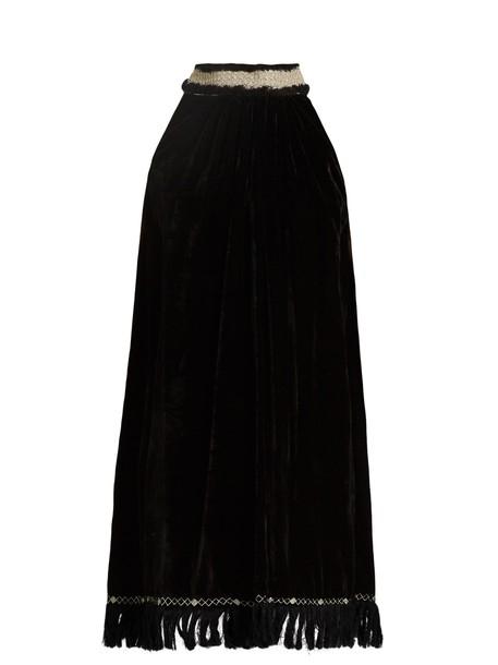 JUPE BY JACKIE dress silk velvet black