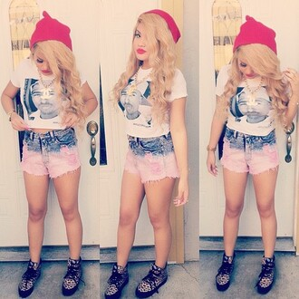 shirt shoes shorts beanie tupac crop tops jewels pants denim