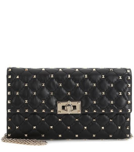 Valentino Garavani Rockstud Spike leather shoulder bag in black