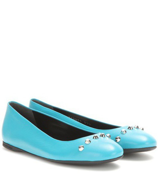 classic leather blue shoes