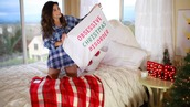 bethany mota,holiday season,pillow,quote on it