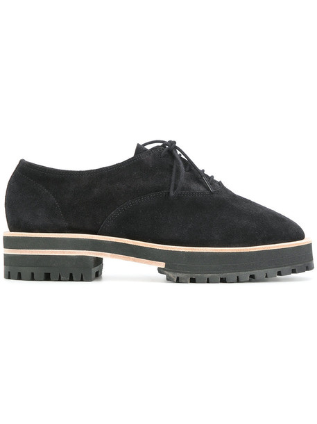 Repetto women shoes lace-up shoes lace leather suede black