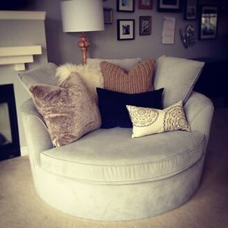 dress sofa chair home decor bedroom inspiration interior home accessory round grey home furniture furniture couch