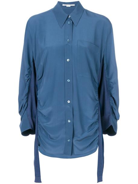 Stella McCartney shirt women cotton blue silk top