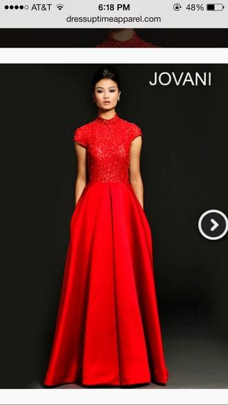 dress red dress jovani prom dress