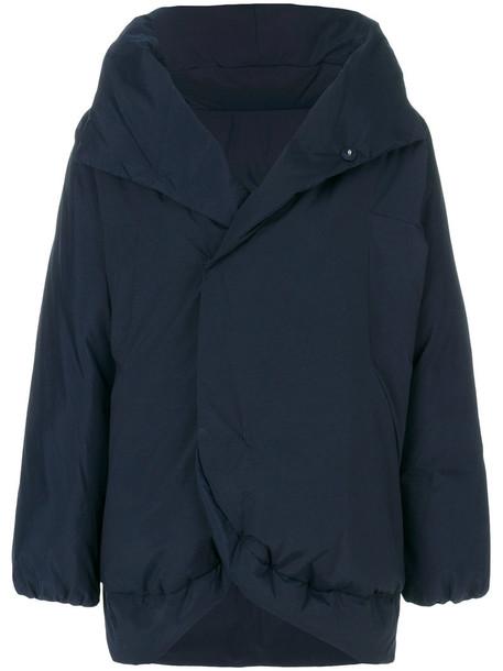 Plantation jacket puffer jacket oversized women cotton blue