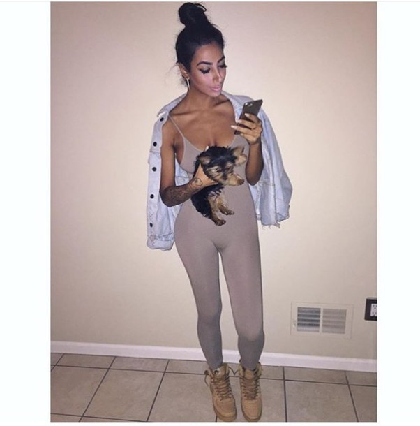 85909dfc475 jumpsuit grey pants grey tank top tank top love fashion casual pretty cute  outfits