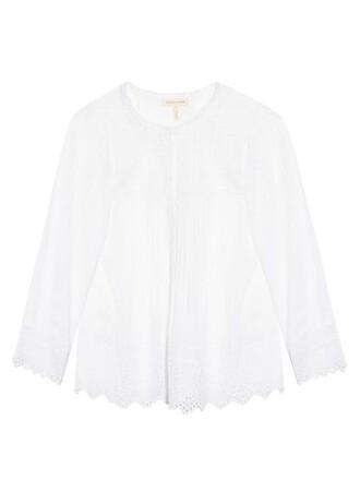 top long cotton white