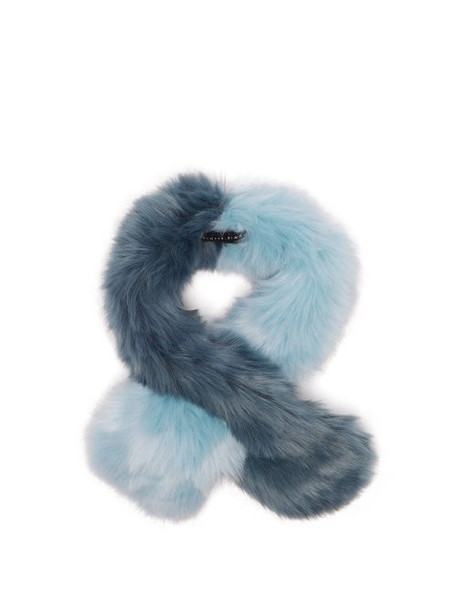 Charlotte Simone - Polly Pop Faux Fur Scarf - Womens - Blue