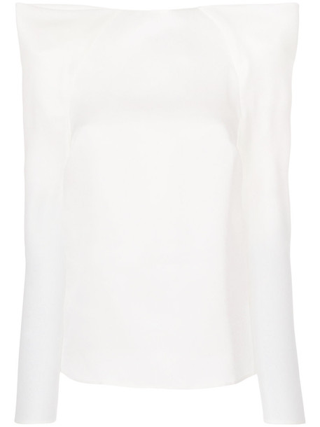 MUGLER top women white silk