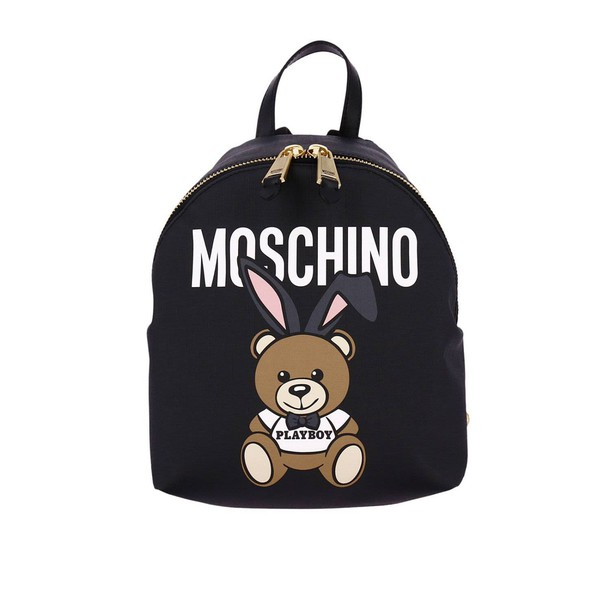 Moschino women couture bag backpack shoulder bag black