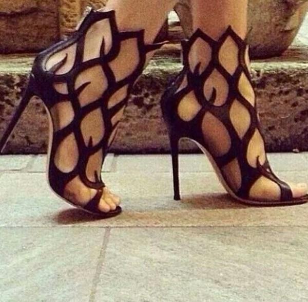 shoes heels flames