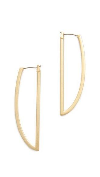 vintage open earrings gold jewels