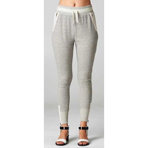 Sporty Chic Sweatpants - Grey