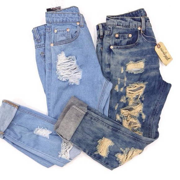 jeans distressed jeans ebonylace.storenvy