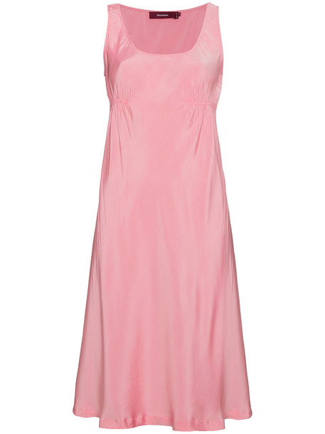 dress slip dress sleeveless women purple pink