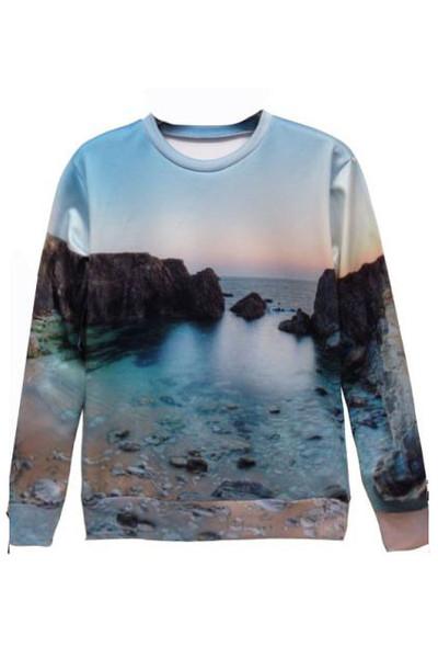 Ibiza Sunset Print Sweater – Glamzelle