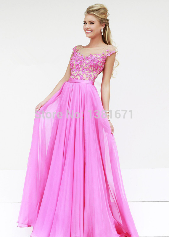 Aliexpress.com : Buy Stunning Evening Gown High Neckline Lace Embellishments Long Flowy Chiffon Celebrity Dress from Reliable celebration wedding dresses suppliers on Aojia Top Evening Dress