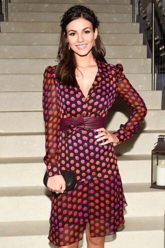 dress polka dots victoria justice fashion week