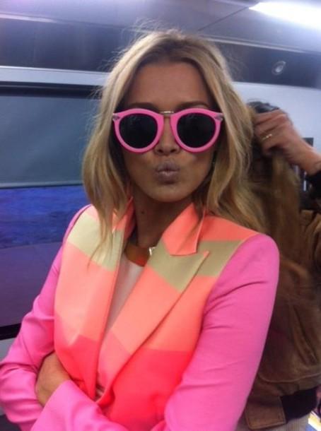 746d7520eb61 jacket pink blazer pink pink jacket neon neon pop blouse neon pink pink  rainbow jacket gold
