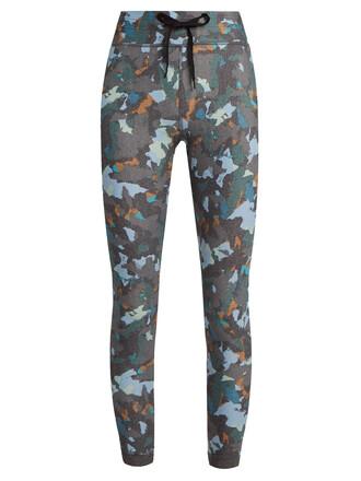 leggings print grey pants